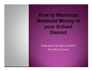 How to Maximize Medicaid Money in your School District