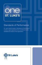 Standards of Performance - St. Luke's