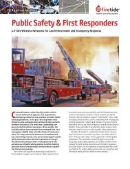 Public Safety & First Responders - Firetide