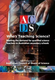 Who's Teaching Science? - Centre for the Study of Higher Education