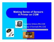 Making Sense of Sensors A Primer on CGM - Joslin Diabetes Center
