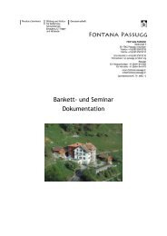 An- und Abreise - Fontana Passugg