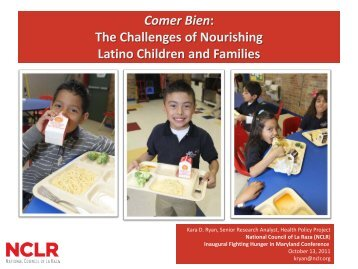 The Challenges of Nourishing Latino Children and Families
