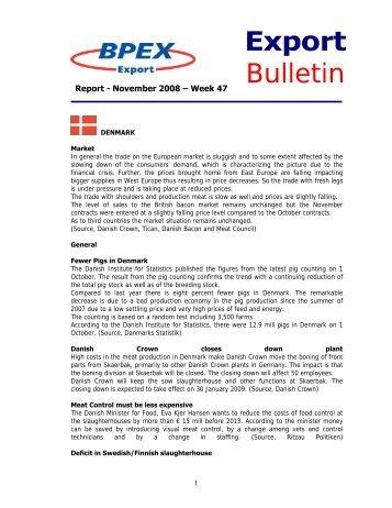 Export Bulletin - November 2008 - Week 47