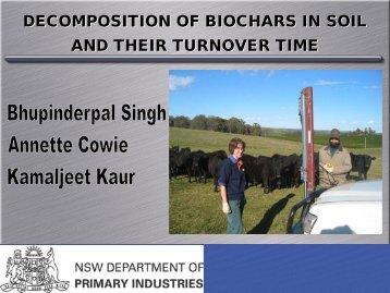 Turnover of biochars in soil - International Biochar Initiative