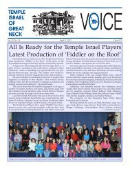 April 11, 2013 - Temple Israel of Great Neck