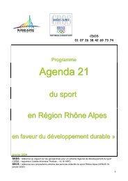 Agenda 21 - CROS de Rhône-Alpes