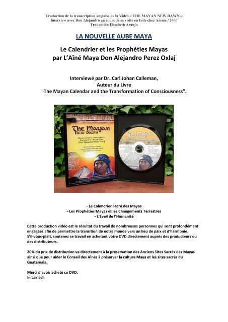 Calendrier Traduction.La Nouvelle Aube Maya Le Calendrier Et Les Mayan Majix