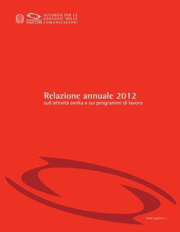 Relazione annuale 2012 - Prima Comunicazione