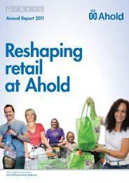 Full Annual report 2011 - 2011: A year in review - Ahold