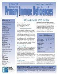 IgG Subclass Deficiency