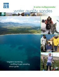 YSI 6-Series multiparameter water quality sondes - Dipl.ing. Houm AS