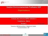 Gestion Environnementale Profitable GEP Organisateurs