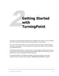 Getting Started - Turning Point