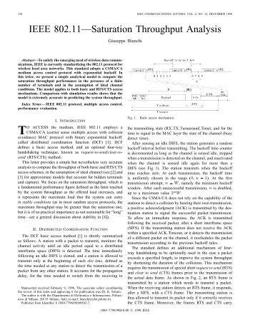 IEEE 802.11-saturation Throughput Analysis - IEEE ...