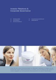 Investor Relations & Corporate Governance - Beiersdorf