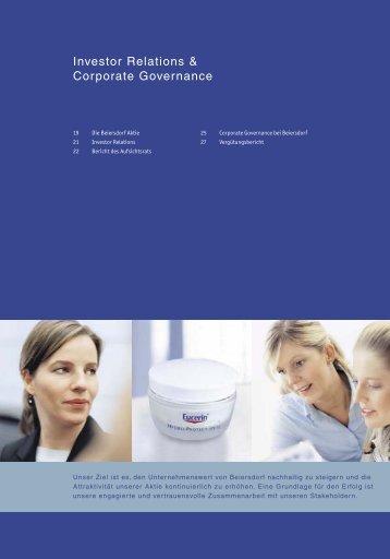 Investor Relations & Corporate Governance - Beiersdorf
