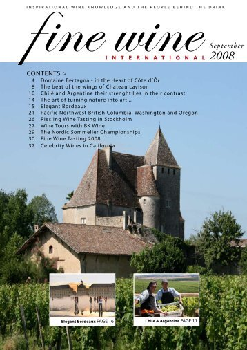 September 2008 - Fine wine magazine