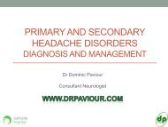 primary and secondary headache disorders - Parkside Hospital