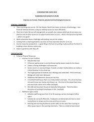 Resources Summary - Xavier University