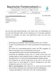 Infobrief - Bayerischer Fechtverband e.V.