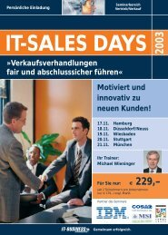 Flyer IT-SALES DAYS dblau - Akademie