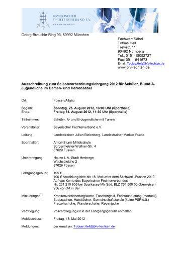 Georg-Brauchle-Ring 93, 80992 München Fachwart Säbel Tobias ...