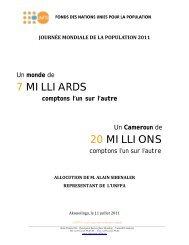 JOURNÉE MONDIALE DE LA POPULATION 2011 Akonolinga, le 11 ...