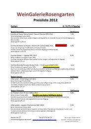 Frankreich € / 0,75 l Flasche - WeinGalerieRosengarten