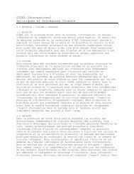SISEL International Politiques et Procédures Globale