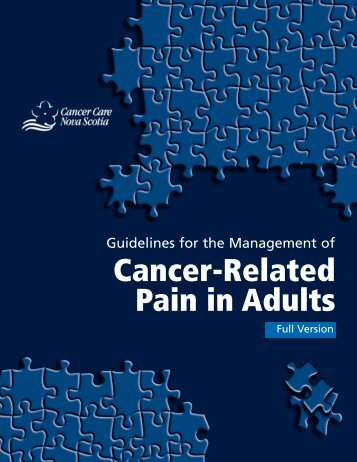 Guidelines for the Management of Cancer-Related Pain in Adults
