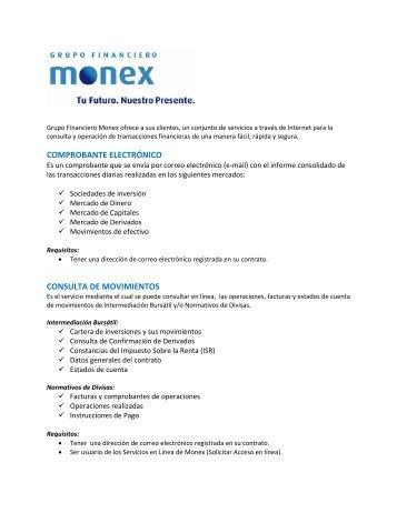 comprobante electrónico consulta de movimientos - Monex