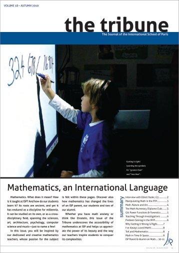 The Tribune, Vol. 18 - International School of Paris