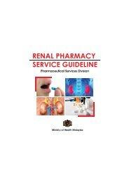 renal pharmacy service guideline - Bahagian Perkhidmatan Farmasi