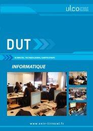 DUT Informatique - Université du Littoral-Côte-d'Opale