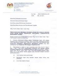 Surat Edaran: JPA(I)175/8/36-43 Jld.83