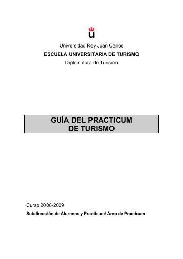 guía del practicum de turismo - FCJS - Universidad Rey Juan Carlos