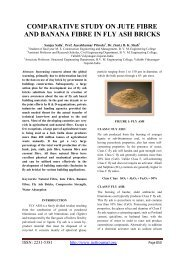 comparative study on jute fibre and banana fibre in fly ash bricks
