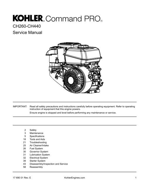 CH260-CH440 Service Manual - Kohler Engines