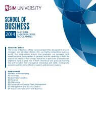 School of Business - SIM University