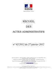 Recueil n°2 du 27 janvier 2012 - 1,79 Mb - Les services de l'État ...