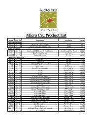Download Wine Catalog - Micro Cru Fine Wines
