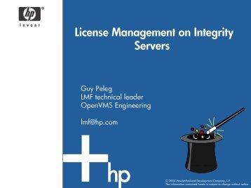 show license/usage
