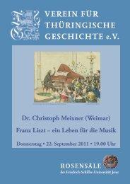 Dr. Christoph Meixner (Weimar) - Verein für Thüringische Geschichte