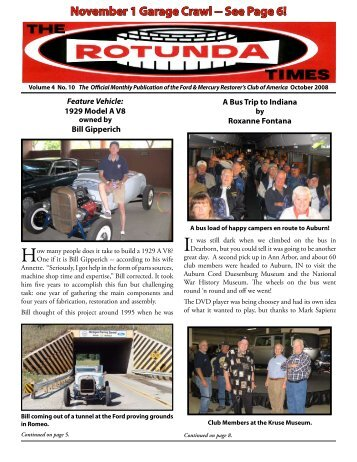 November 1 Garage Crawl -- See Page 6! - Ford & Mercury ...