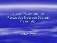 Sample Message Strategy Presentation PowerPoint