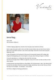 Vivendi Lebens-Art | Gertrud Rüegg