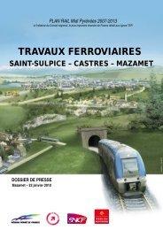 PLAN RAIL Midi Pyrénées 2007-2013 - RFF
