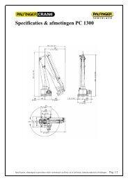 bijlage: Specificaties & afmetingen PC 1300 - Palfinger