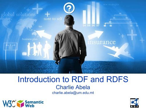Introduction to RDF and RDFS